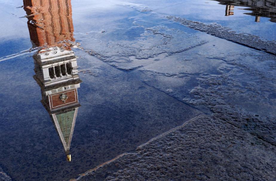 Venedig und Hochwasser Das mose-Projekt