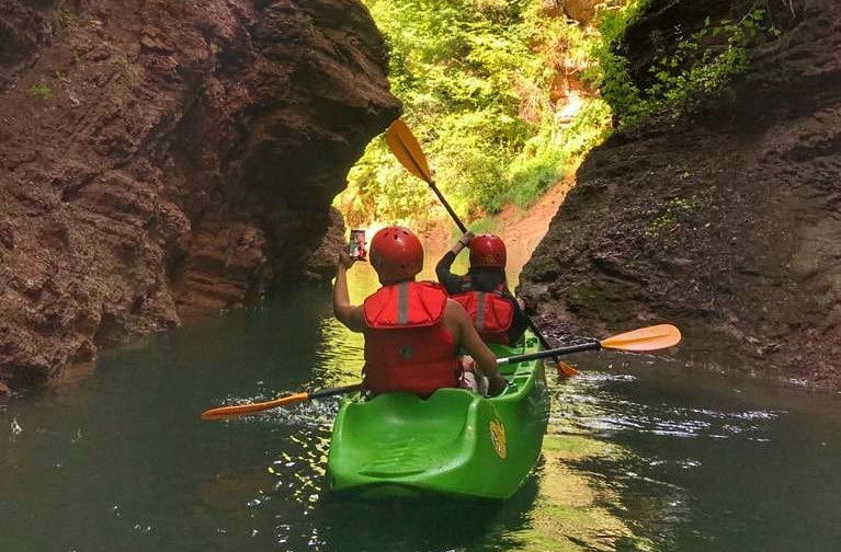 Canoeing in the Rio Novella Gorges