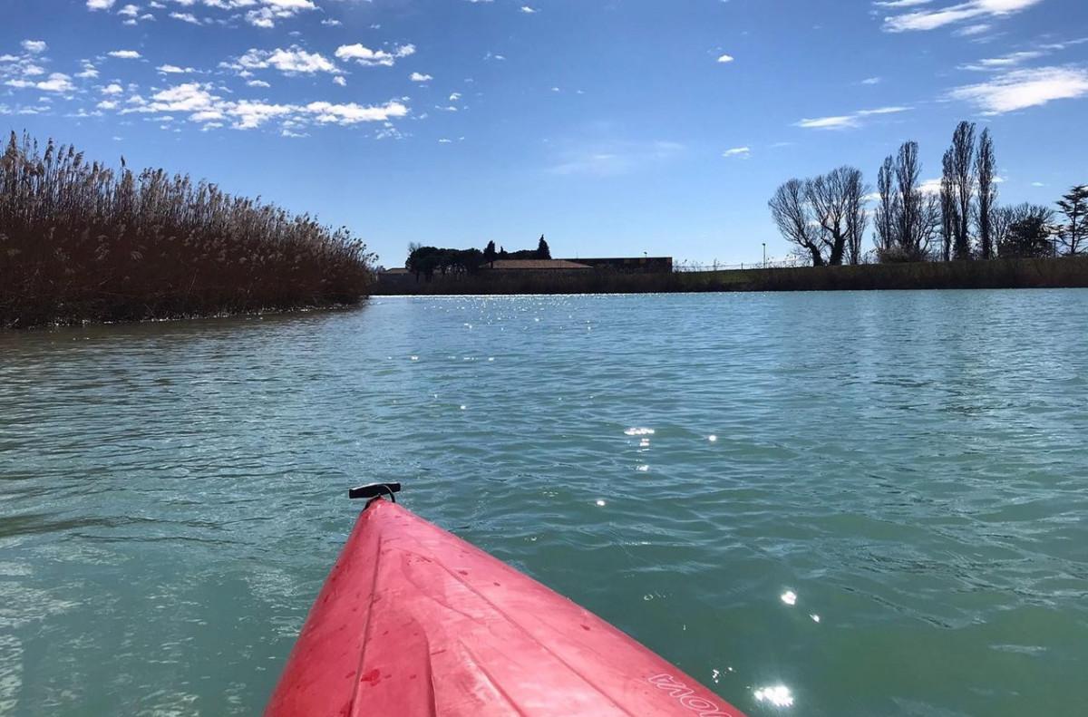 Kayak in the Lagoon of Caorle