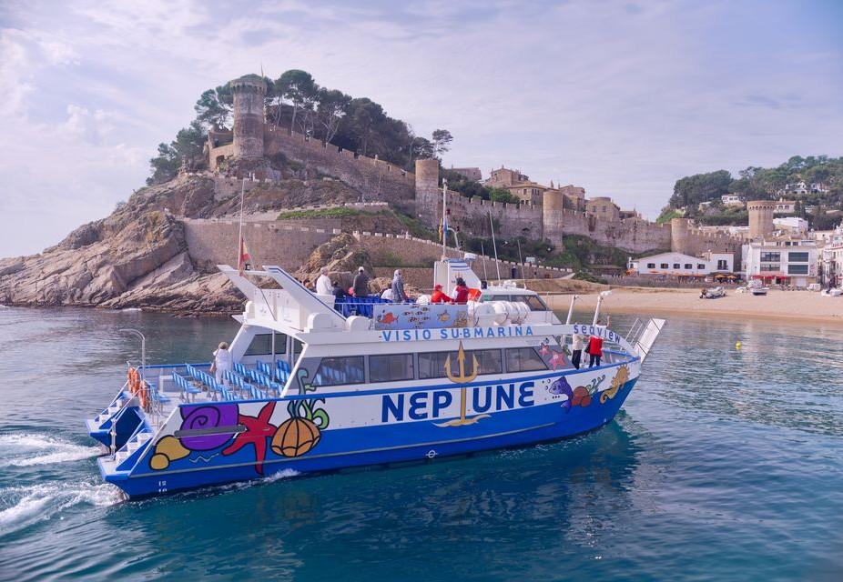 Rundture færge til Tossa de Mar fra Blanes & Lloret de Mar