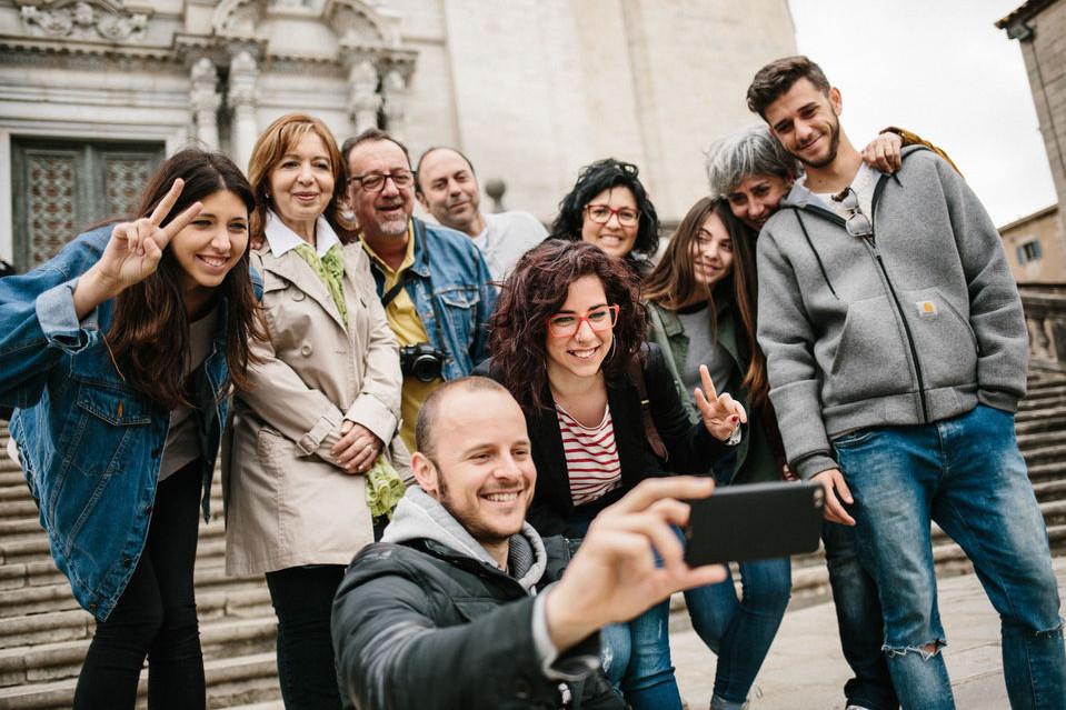 Girona: 2-timers sightseeingtur m / katedralindgang