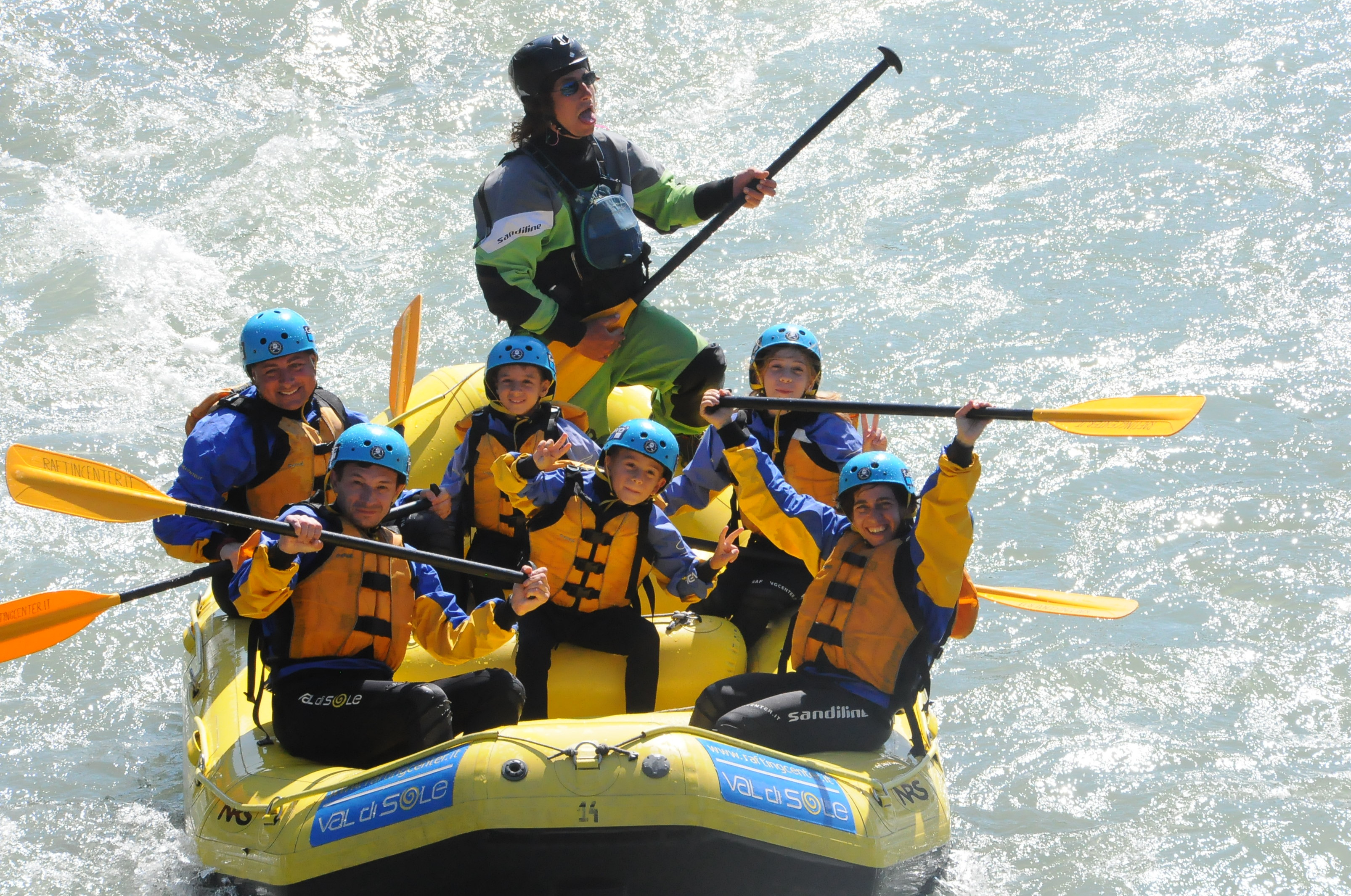 Rafting Familie Val di Sole